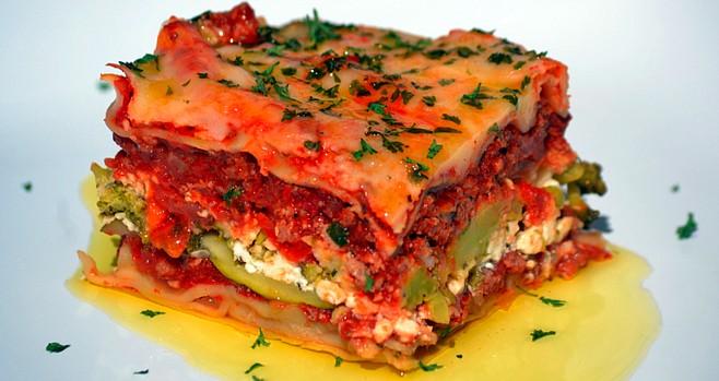 Chili lasagna. Feel the burn.