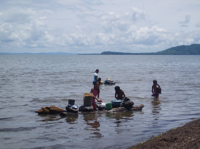 Laundry day on Lake Nicaragua