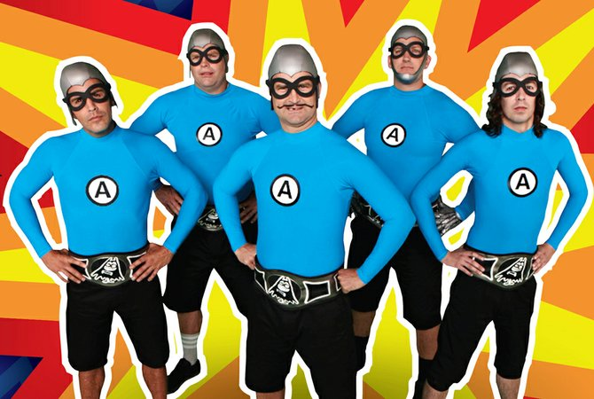 Ska-pop act Aquabats flap into House of Blues' belfry Thursday.