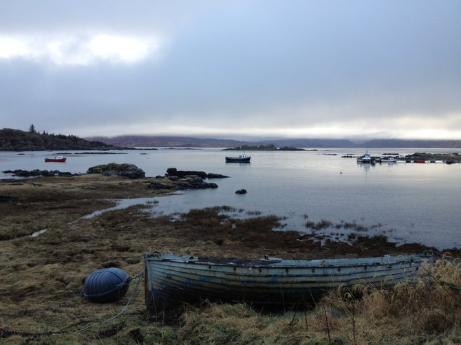 Armadale, Isle of Skye. The row boat that almost became my five-star hotel for a night.