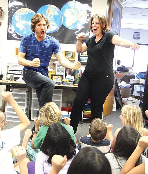 """Michael Maury and Ashley McGuire of LifePlay use improv comedy to help kids """"explore self-expression, learn conflict resolution, and gain confidence."""""""