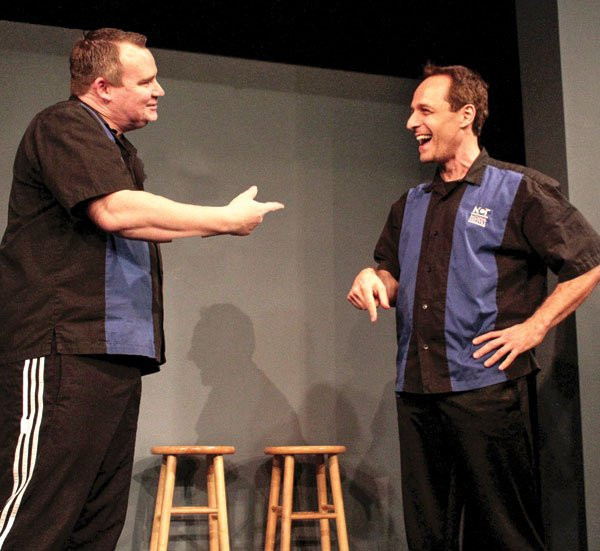 """Gary Kramer (right) says improv is """"easier [than stand-up] because the audience might be more forgiving,"""" but  """"harder because we don't get a chance to rehearse."""""""