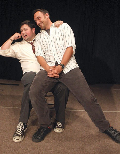 """Comedy duo Chris George and Mike McFarland say with long-form improv, """"The expectation is, 'We're just going to be entertained, however that manifests itself.'"""""""