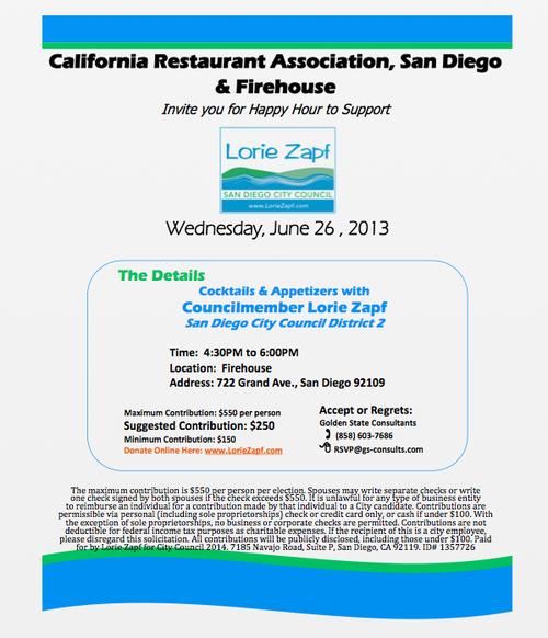 June 26 fundraising invite