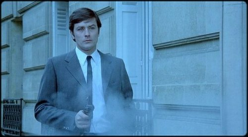 "Alain Delon in ""Un Flic."""