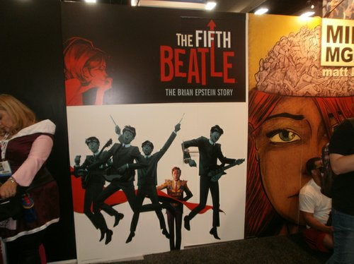 The Fifth Beatles cover art by Andrew Robinson blown up wall size. Photo by Bart Mendoza.