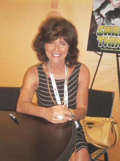 Did you know Adrienne Barbeau released a self titled pop album? Here she is promoting a re-issue of her 1970's classic, Swamp Thing. Photo by Bart Mendoza.