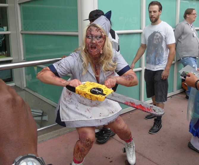 Roller Zombie Girl at Comic Con