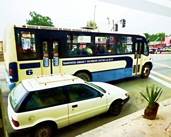 Neighborhood Photos TIJUANA,BAJA CALIFORNIA Public transport in Tijuana´s Otay section/ Transporte publico en area de Otay en Tijuana.