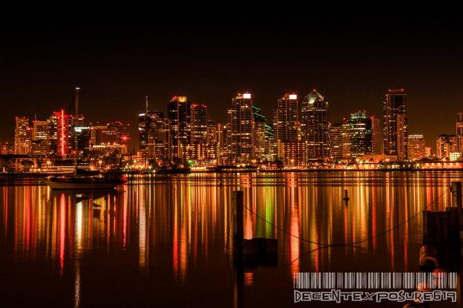 """Americas Finest""  San Diego skyline via Harbor Island"