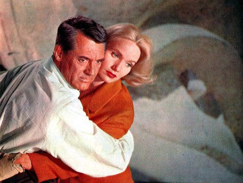 Cary Grant and Eva Marie Saint.