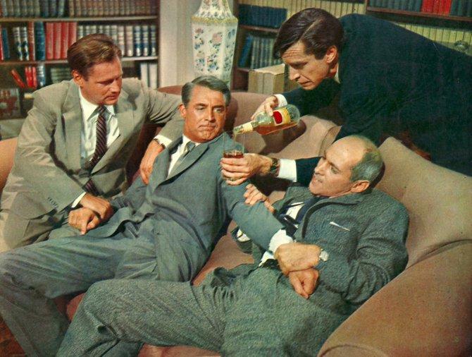 Adam Williams, Cary Grant, Martin Landau, and Martin Ellenstein.