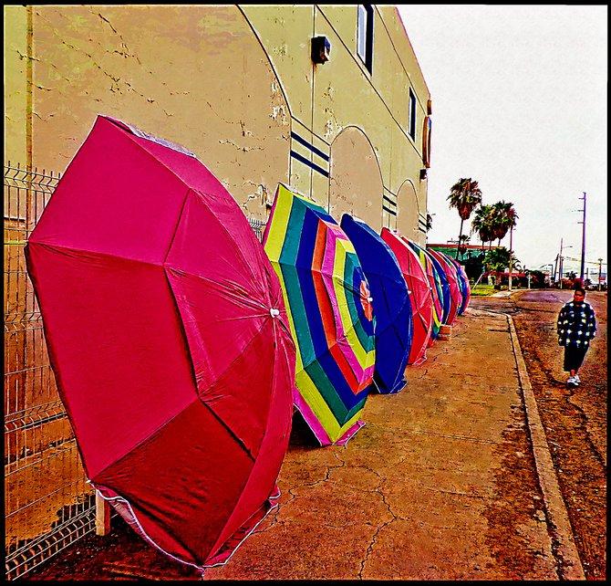 Neighborhood Photos TIJUANA,BAJA CALIFORNIA Umbrellas for sale in Tijuanas's Otay section/Sombrillas a la venta en area de Otay en Tijuana
