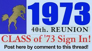 Class of 1973 40th. Reunion