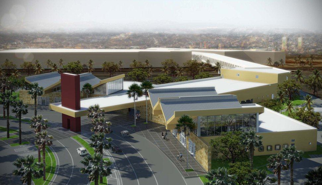 Artist's rendition of the proposed San Diego-Tijuana Airport Cross Border Facility, which will expedite travel to Tijuana's new airport