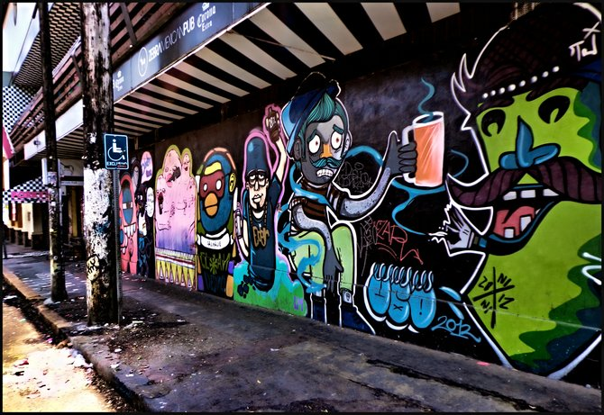 Neighborhood Photos TIJUANA,BAJA CALIFORNIA Another view of wall in Sixth Street and Revolution Avenue of Urban Art in Tijuana /Otra vista de muro con Arte Urbano en Calle Sexta y Avenida Revolucion en Tijuana.