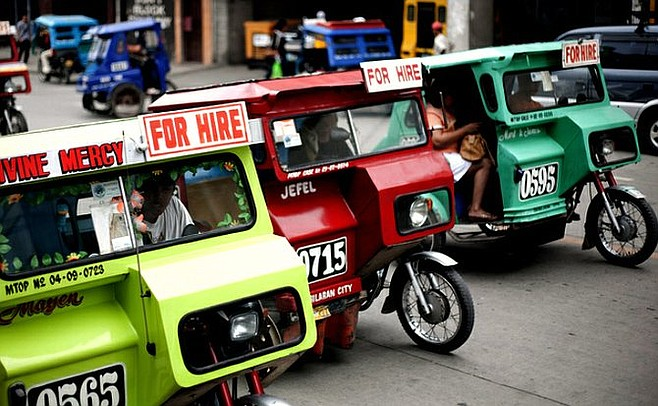 There's never a shortage of taxis in Bohol.