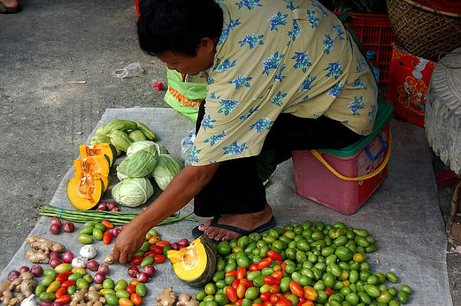 Bohol fruit vendor.
