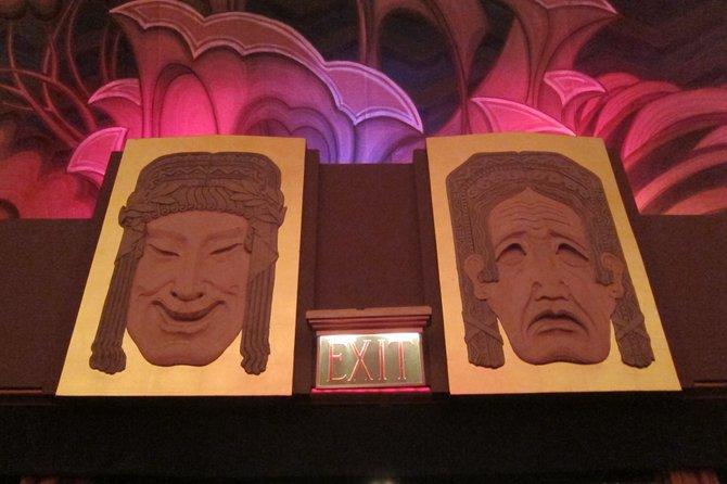 Casino Theatre and Ballroom. Avalon, Catalina Island. Comedy/Drama faces on the beautifully decorated interior.