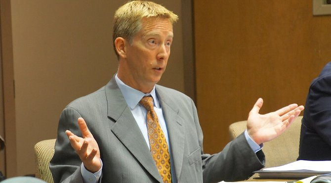 Prosecutor Kurt Mechals said no weapon was recovered.  Photo Weatherston.