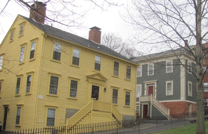 Colonial-era houses in Providence.