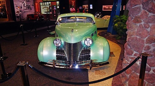 A classic Caddy at the Petersen Automotive Museum.