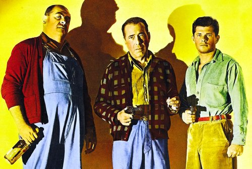 Robert Middleton, Humphrey Bogart, and Dewey Martin.