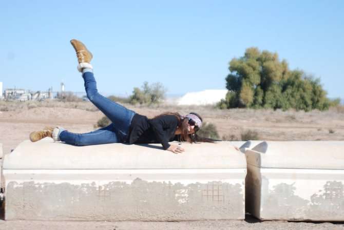 Planking at the cemetery