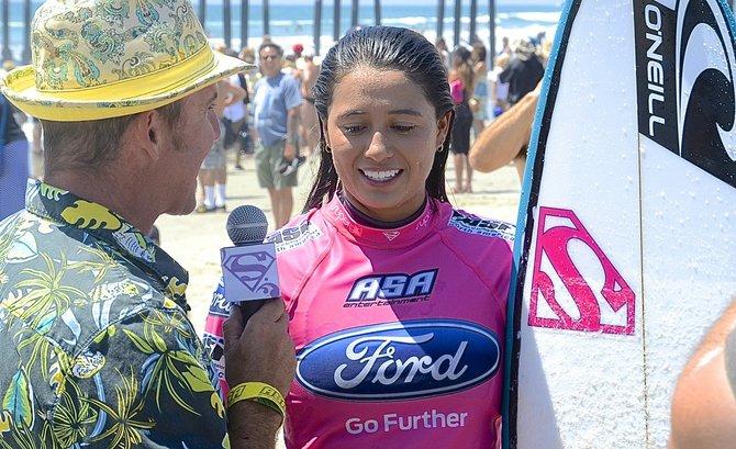 Malia Manuel, 19, winner. Photo Weatherston.