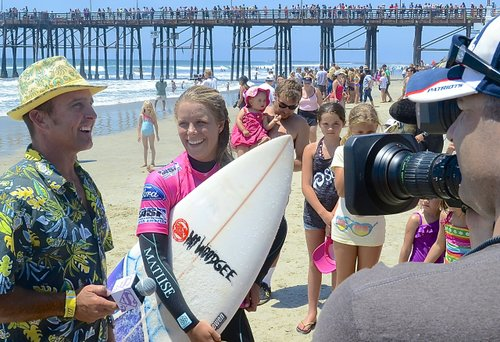 Paige Hareb, 22, the New Zealand pro came in second. Photo Weatherston.