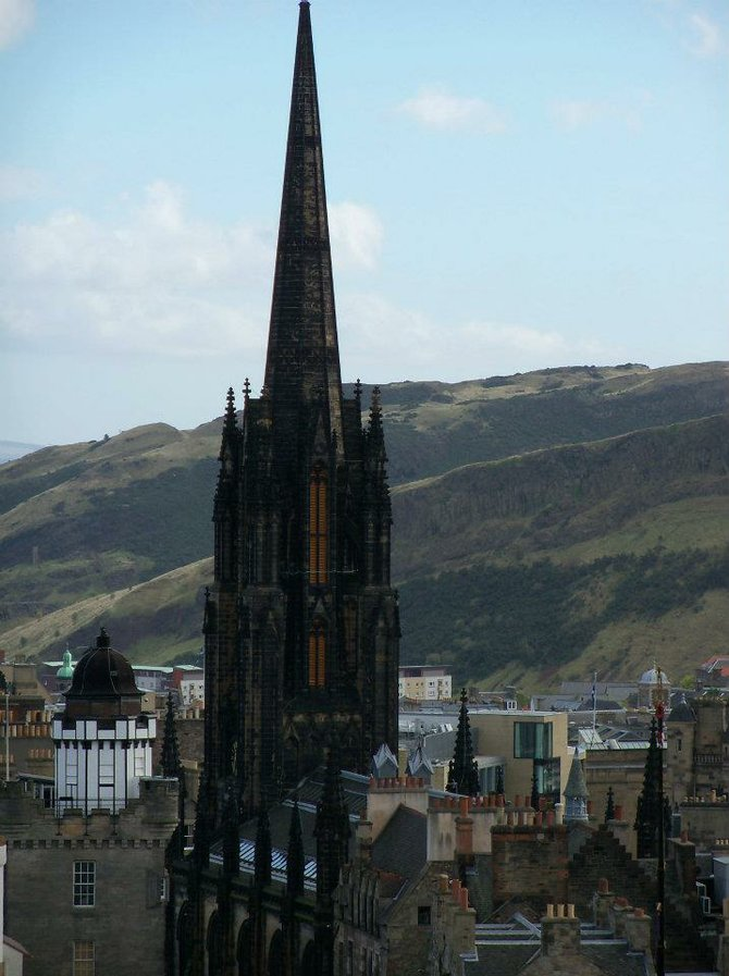 Top view of Edinburgh