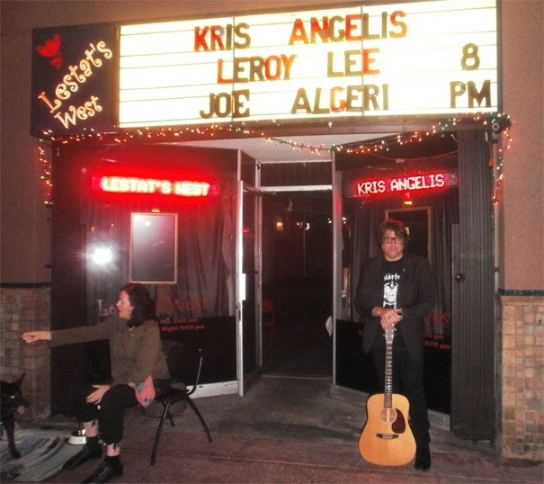 Joe Algeri in front of Lestat's Coffeehouse August 4 2013. Photo by Bart Mendoza