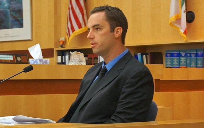 Oceanside police officer Scott Garrett said the witness ID'd the suspect.  Photo Weatherston.