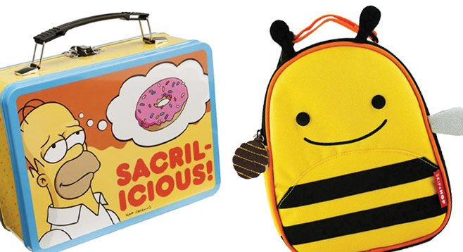 Simpsons lunch box and Skip Hop Zoo Lunchie Bee