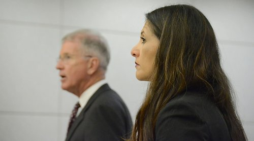 Defense attorney Warwick and prosecutor Grasso. Photo Weatherston.