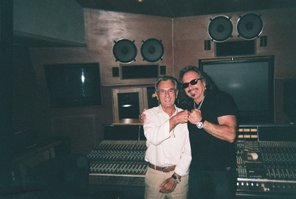 Tony Adamo with 15 time Grammy winner Al Schmitt. Schmitt mixed songs from Adamo's WHAT IS HIP CD/URBANZONE RECORDS
