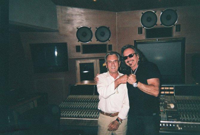 Tony Adamo with 15 time Grammy winner Al Schmitt. Schmitt mixed songs from Adamo's WHAT IS HIP CD/URBANZONE RECORDS