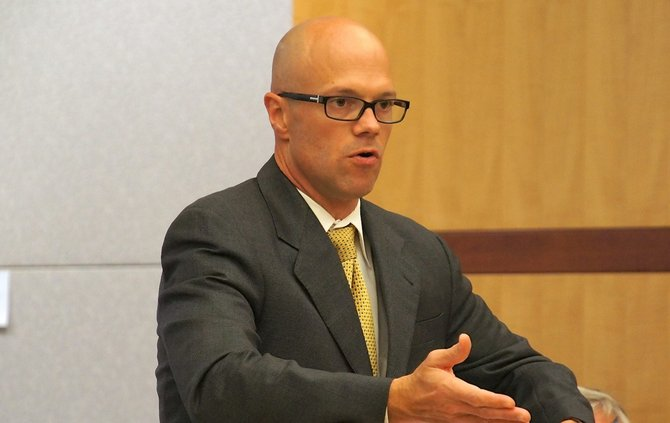 Prosecutor Robert Bruce charged each Stoufe brother w attempted murder. Photo Weatherston.