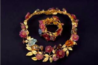 Fabulous gold n diamond n gemstone jewelry sets were taken from the San Diego County estate.