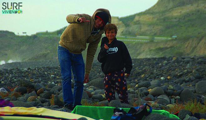 Vicente and Joshua.   (Photo courtesy of Surviviendo)