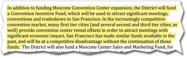 San Francisco is trying to develop a fund to subsidize large-scale conventions.