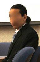 Samuel Ortega Ricardez in court.