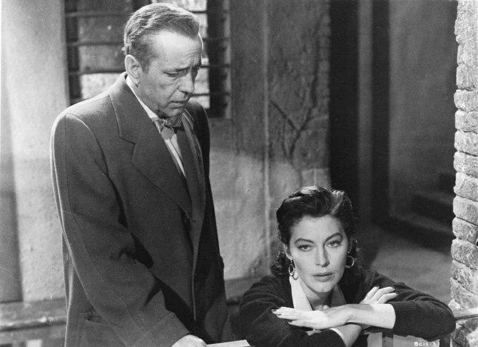 Humphrey Bogart and Ava Gardner.