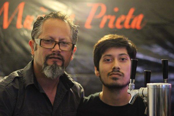Playas de Tijuana–based brewer Carlos Arredondo and his son Valter of Muñeca Prieta Brewing.