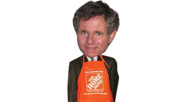 "Lobbyist Tom Shepard used Home Depot's money to fight big labor's ""Big Box Ordinance."""