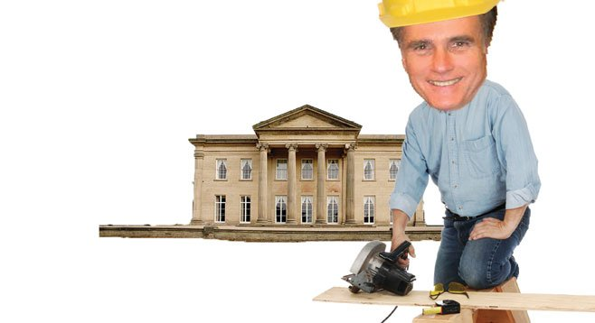 Mitt Romney has put a lot of effort and money into getting his La Jolla mansion built.