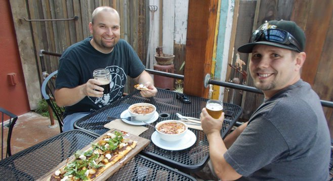 """Jared and Jim ordered up a storm. """"This is our  go-to place."""""""