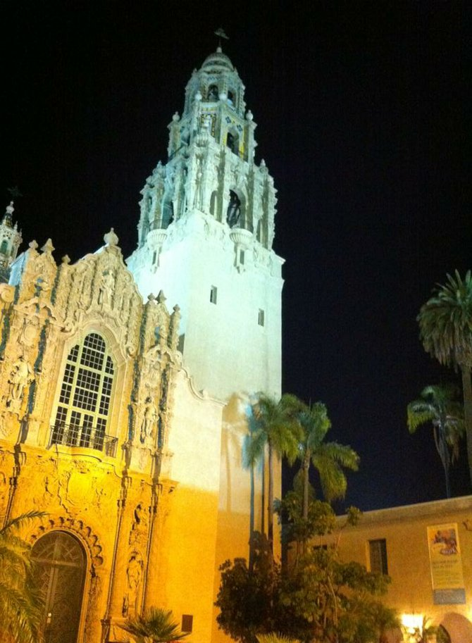 Balboa Park after hours.