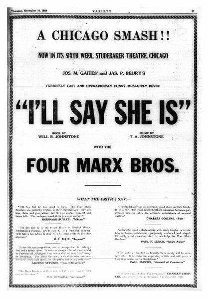 VARIETY, September 1923.