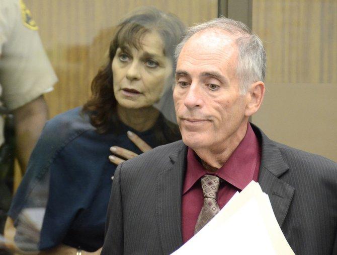 Defendant Darling n her attorney Herb Weston. Photo Weatherston.